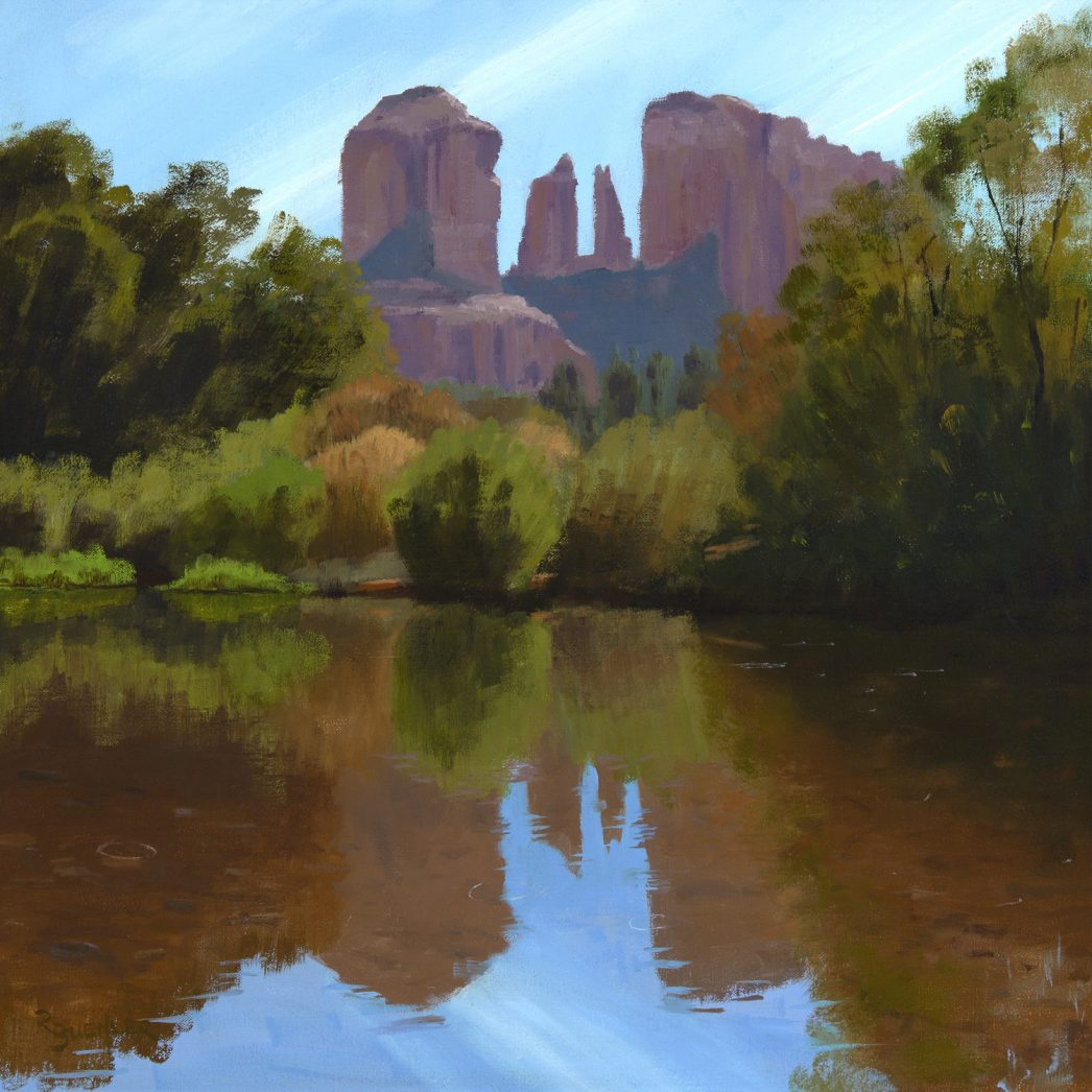 Cathedral Rock Reflections in Oak Creek