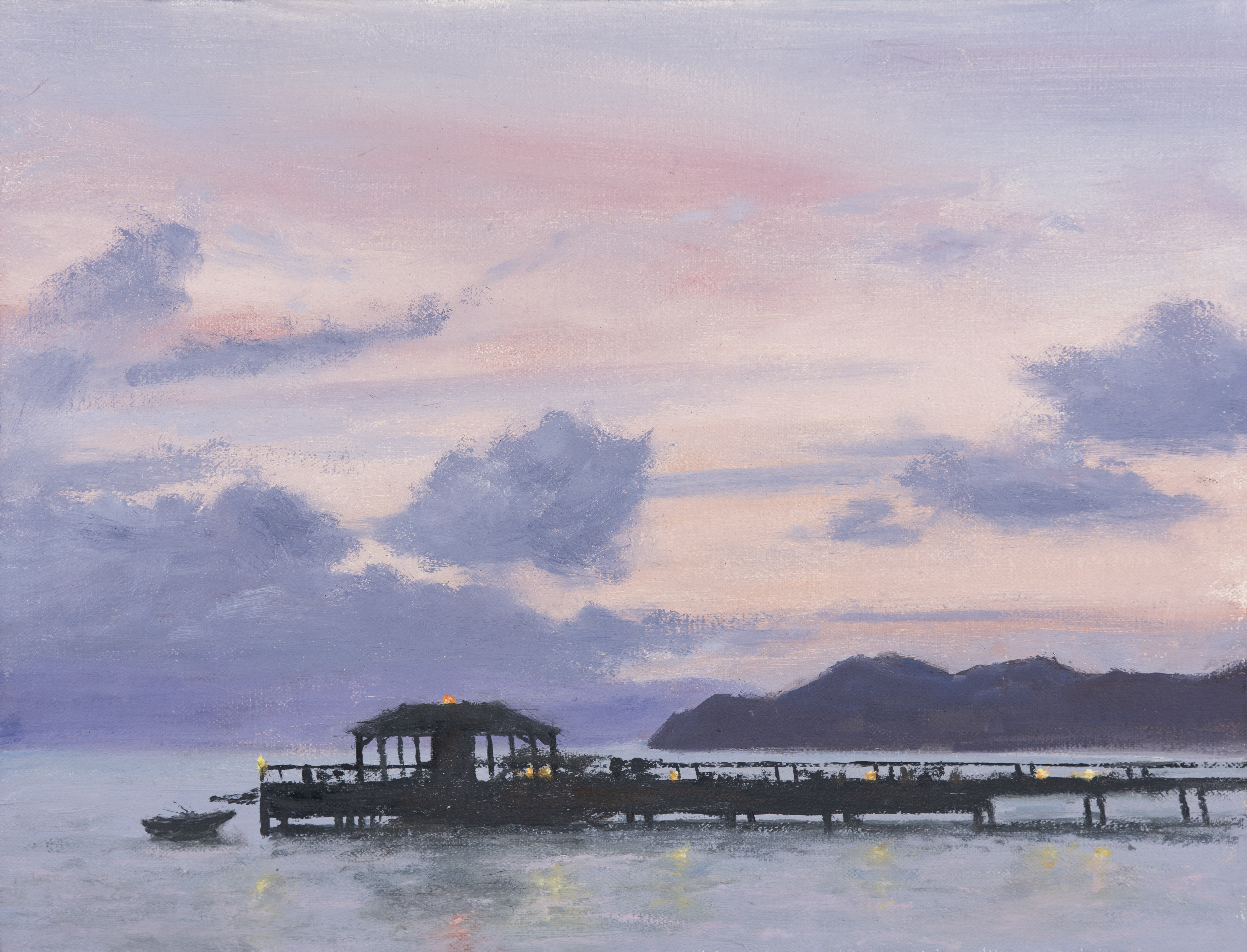 Nevis Pier at Dusk