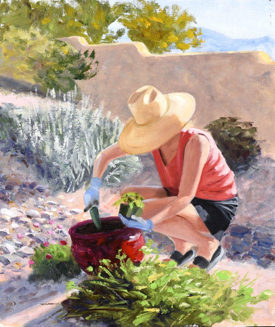 Straw Hat / Nancy Gardening