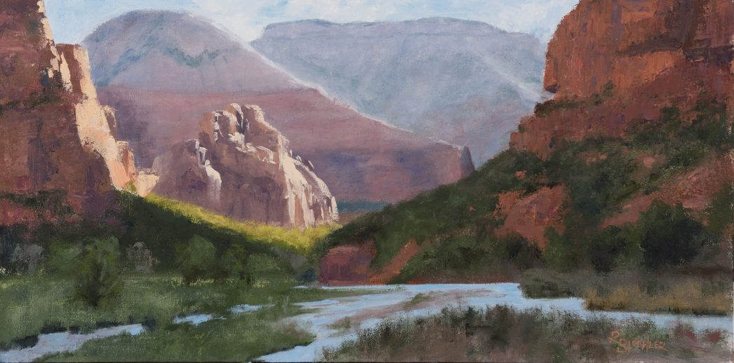 Zion Sculptures and The Virgin River